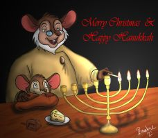 Lighting the Menorah by The-B-Meister