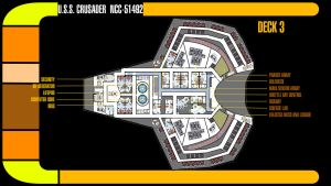 U.S.S. Crusader Deck 3 Plans by TrekkieGal
