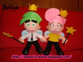 Wanda and Cosmo plush version by Momoiro-Botan
