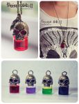 Poison Skull bottle necklace by Bea-Gonzalez