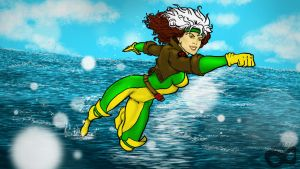 Rogue in Flight by EccentricCasey