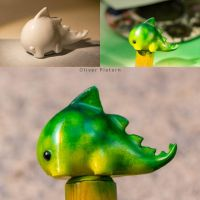 My Dragon gets real  - airbrushed 3D Print by hoschie