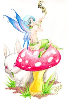 Fairy and Bunny by PookieMania