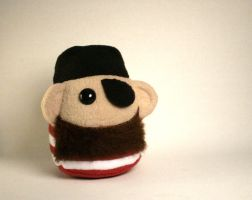 Brownbeard the Pirate Plushie by Saint-Angel