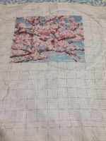 WIP Olympus 7386 Mt Fuji and Cherry Blossems by ChainmaileFairy