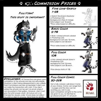 Kzmaster Commission Prices by kzmaster