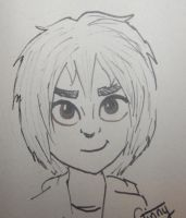 Quick Hiro Sketch by Ginnyweasley678