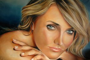 Cameron Diaz - Portrait in Oils by davidreevespayne1