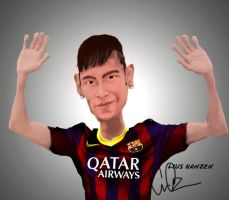 neymar welcome to barcelona by hideyoshiliu