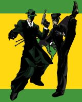 Green Hornet and Kato by LexiKimble