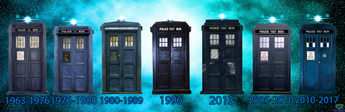 All Tardis in Years by vvjosephvv