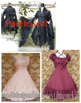 Dresses for my stock by mizzd-stock