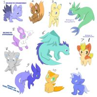 Adoptables 2 by xShadilverx