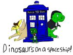 Dinosaurs on a Spaceship! by Artdirector123