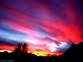 texas sunset by csselement