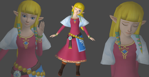 Zelda Skyward sword version by Saskeni