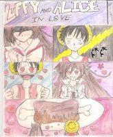 Alice and Luffy in love by Yami-Tamashi
