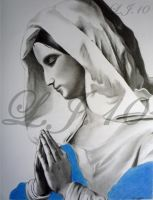 Mary Mother Of Jesus Praying by lee100188