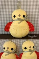 Hanging Chick Plush Ornament by tinypom