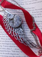 Steampunk Wing Necklace by Hiddendemon-666