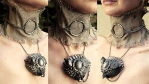 Boho Romantic Set collar and shell necklace by Pinkabsinthe