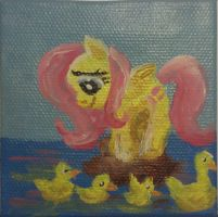 Fluttershy painting by KittenLollipop
