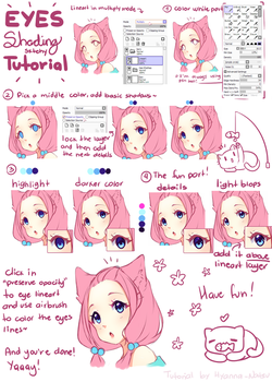 Tutorial - Hyan simple eye shading by Hyan-Doodles