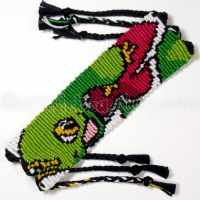 Meganium 1.5 inch Friendship Bracelet by CarrieBea