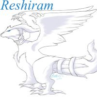 Reshiram2 by Snickers69