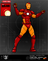 TRDL - Iron Man Avengers Film Redesign by TRDLcomics