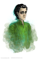 Another sad Loki by AnnikeAndrews