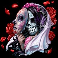 Day of the Dead Bride by WilliamWebb