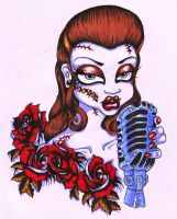 Rockabilly chick by SimpleScars