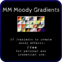 MM Moody Gradients For Photoshop by MagpieMagic