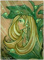ACEO Dewdrop by PaminaArtistry