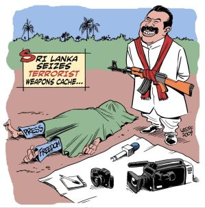 sri lankan press freedoms latuff