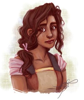 Curly-Haired Princess by MelodicMadness