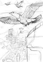 Pigeon Sketch by Loone-Wolf