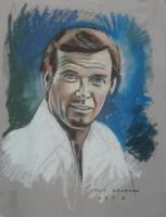 Roger Moore by Paulstered