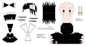BLEACH Papercraft - Kuchiki Byakuya by Larry-San
