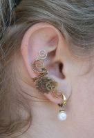 Steampunk ear cuff by NightOfMoon
