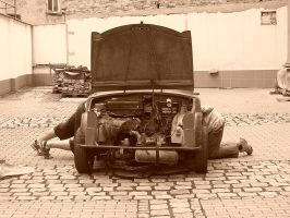 men and cars... by Gwenthyr