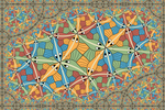 M.C.Escher Circle Limit III in a rectangle by Vladimir-Bulatov