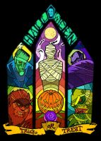 Halloween Monster Window by a4anner