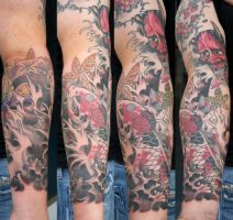 asia arm with koi and hannya by graynd