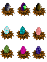 Draw to Adopt Eggs (dragons)  OPEN by xX-Starduster-Xx