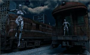 Meeting at the trains... by Sedorrr