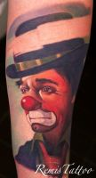 color clown tattoo by Remistattoo