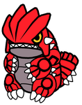 Groudon Pokedoll Art Redesigned by methuselah-alchemist