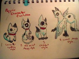 Pepper Character Evolution by merpyfrost